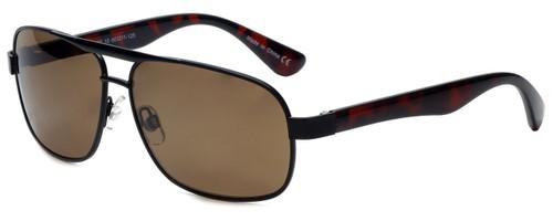 Isaac Mizrahi Designer Sunglasses IMM107-10 in Black with Brown Lens