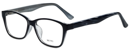 Metro Designer Eyeglasses Metro-23-Black in Black 47mm :: Rx Single Vision