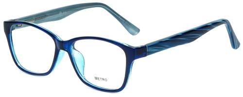 Metro Designer Eyeglasses Metro-23-Blue in Blue 47mm :: Rx Single Vision