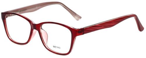 Metro Designer Eyeglasses Metro-23-Wine in Wine 47mm :: Rx Single Vision