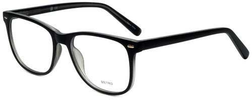 Metro Designer Eyeglasses Metro-35-Black-Crystal in Black Matte Crystal 53mm :: Rx Single Vision