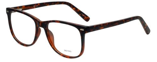 Metro Designer Eyeglasses Metro-35-Tort in Dark Tortoise Matte 53mm :: Rx Single Vision