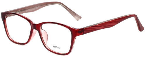 Metro Designer Eyeglasses Metro-23-Wine in Wine 47mm :: Rx Bi-Focal