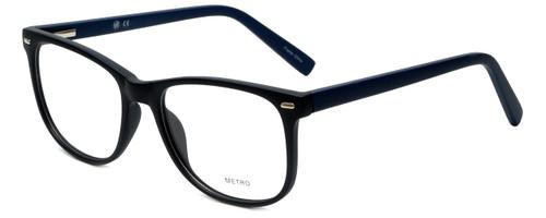 Metro Designer Eyeglasses Metro-35-Black-Navy in Matte Black Navy 53mm :: Rx Bi-Focal