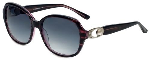 Azzaro Designer Sunglasses AZ4393-C3 in Purple Stripe Crystal 56mm