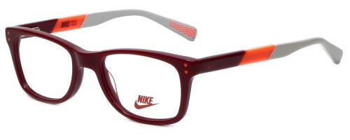 Nike Designer Reading Glasses 5538-605 in Team Red Bright Crimson 46mm Kids Size