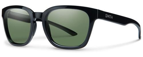 Smith Optics Founder Slim Designer Sunglasses in Black with Polarized ChromaPop Green Lens