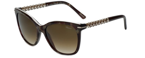 Chopard Designer Sunglasses SCH207S-0VA9 in Silver Grey Marbled with Brown Gradient Lens