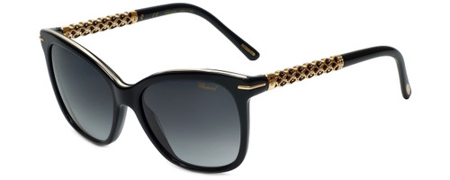 Chopard Designer Sunglasses SCH207S-700 in Shiny Black with Grey Gradient Lens