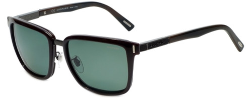 Chopard Designer Polarized Sunglasses SCHB84-6XKP in Shiny Brown with Green Lens