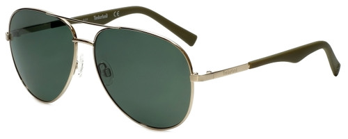 Timberland TB9109-30R Designer Polarized Sunglasses in Shiny Gold with Green Lens