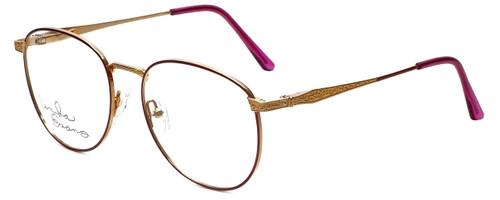 Linda Evans Designer Eyeglasses LE-169 in Burgundy 53mm :: Custom Left & Right Lens
