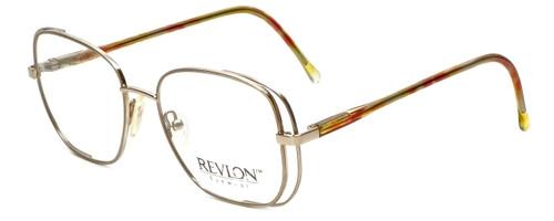 Revlon Designer Eyeglasses 1004 in Satin Gold 54mm :: Custom Left & Right Lens