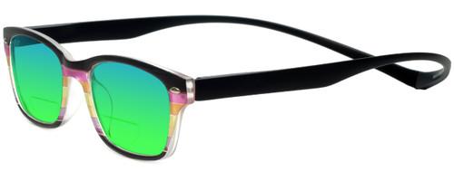 Magz Greenwich Magnetic Polarized Bi-Focal Sunglasses (Mirror Lenses)
