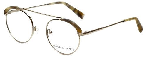 Kendall + Kylie Designer Eyeglasses Stacie KKO130-718 in Light Gold 48mm :: Custom Left & Right Lens