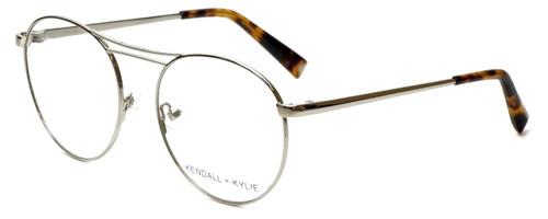 Kendall + Kylie Designer Eyeglasses Nikki KKO131-045-54 in Silver 54mm :: Custom Left & Right Lens