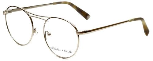 Kendall + Kylie Designer Eyeglasses Nikki KKO131-718 in Light Gold 50mm :: Custom Left & Right Lens