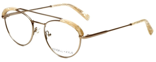 Kendall + Kylie Designer Eyeglasses Shayne KKO132-780 in Rose Gold 50mm :: Custom Left & Right Lens
