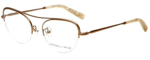 Kendall + Kylie Designer Eyeglasses Marianna KKO138-780 in Rose Gold 51mm :: Custom Left & Right Lens