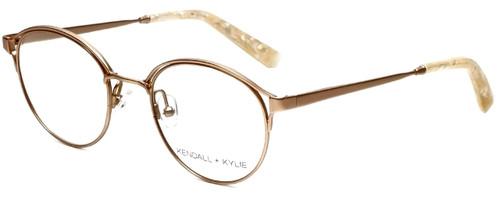 Kendall + Kylie Designer Eyeglasses Samara KKO139-780 in Rose Gold 49mm :: Custom Left & Right Lens