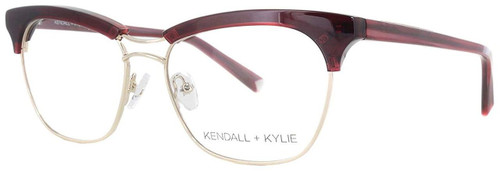Kendall + Kylie Designer Reading Glasses Piper KKO109-605 in Burgundy 53mm