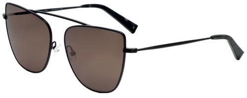 Kendall + Kylie Designer Sunglasses Val KK4017-002 in Black Moonglow 60mm