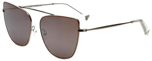 Kendall + Kylie Designer Sunglasses Val KK4017-234 in Silver Nude 60mm