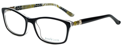 Ana & Luca Designer Eyeglasses Francesca in Black 52mm :: Custom Left & Right Lens