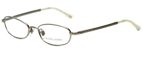 Ralph Lauren Designer Eyeglasses RL5045-9001 in Shiny Silver 51mm :: Custom Left & Right Lens