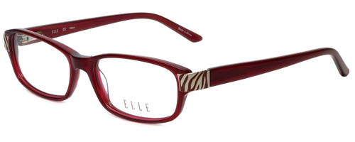 Elle Designer Eyeglasses EL13383-RE in Red 52mm :: Custom Left & Right Lens