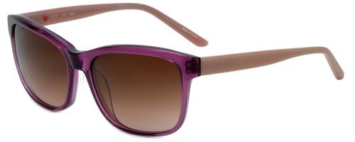 Elle Designer Sunglasses EL14817-PU in Purple with Brown Gradient Lens