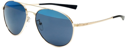 Police Designer Sunglasses Rival 2 in Shiny Rose Gold with Blue Mirror Lens