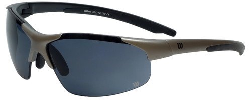 Wilson Designer Sunglasses Stroke Masters Collection 1014 in Silver with Grey Lens