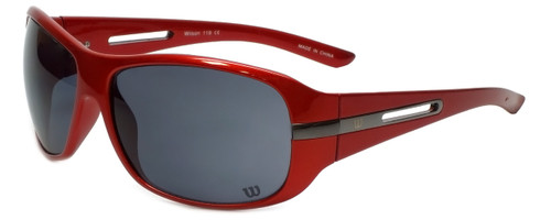 Wilson Designer Sunglasses Shortstop Major League Collection 1018 in Red with Grey Lens