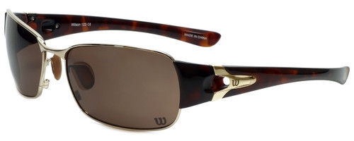 Wilson Designer Sunglasses Pitcher Major League Collection 1024 in Gold with Amber Lens