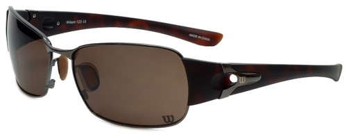 Wilson Designer Sunglasses Pitcher Major League Collection 1024 in Gunmetal with Amber Lens