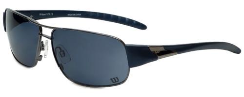 Wilson Designer Sunglasses Runner Major League Collection 1027 in Gunmetal with Grey Lens