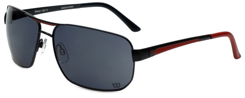 Wilson Designer Sunglasses Fielders Major League Collection 1028 in Black with Grey Lens