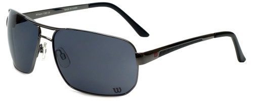 Wilson Designer Sunglasses Fielders Major League Collection 1028 in Gunmetal with Grey Lens