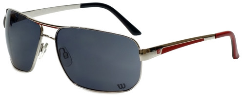 Wilson Designer Sunglasses Fielders Major League Collection 1028 in Silver with Grey Lens