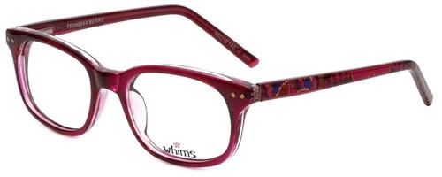 Whims Designer Eyeglasses TR5885AK in Berry 50mm :: Custom Left & Right Lens