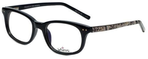 Whims Designer Eyeglasses TR5885AK in Black 50mm :: Custom Left & Right Lens