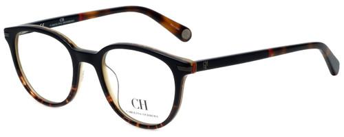 Carolina Herrera Designer Eyeglasses VHE666-07RE in Tortoise 49mm :: Custom Left & Right Lens