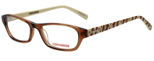Converse Designer Eyeglasses K007 in Brown 49mm :: Rx Single Vision