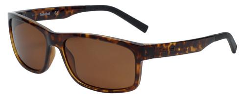 Timberland TB9104-52H Designer Polarized Sunglasses in Dark Havana with Brown Lens