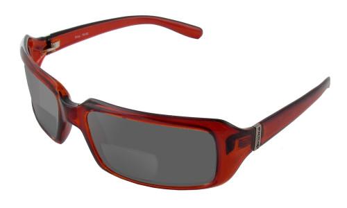 Bolle Envy in Cognac Polarized Bi-Focal Reading Sunglasses