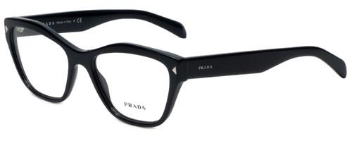 Prada Designer Reading Glasses VPR27S-1AB1O1 in Black 53mm