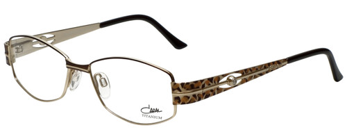 Cazal Designer Eyeglasses Cazal-1089-004 in Brown Leopard Gold 52mm :: Custom Left & Right Lens