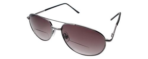 Calabria 1110SB Metal Aviator Bi-Focal Reading Sunglasses