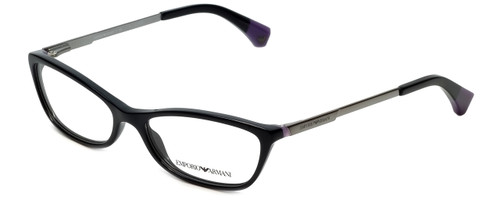 Emporio Armani Designer Eyeglasses EA3014-5017 in Black/Violet 52mm :: Rx Bi-Focal